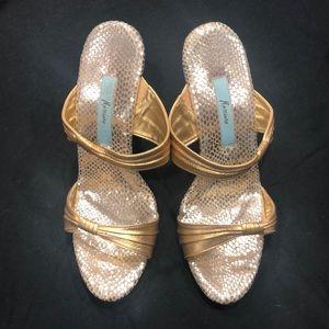 Gold Marciano Heels